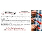 Put-Butts Spegnisigaro COMFORT L 100 Doppio Colore Metal Argento - Made in Italy -