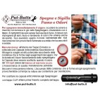 Put-Butts Spegnisigaro Singolo L 080 VISORE Colore Rosso- Made in Italy -